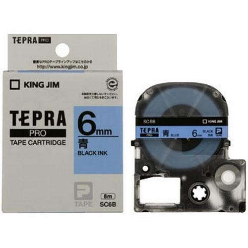 TEPRA SC6B - CHỮ ĐEN NỀN XANH DƯƠNG 6MM