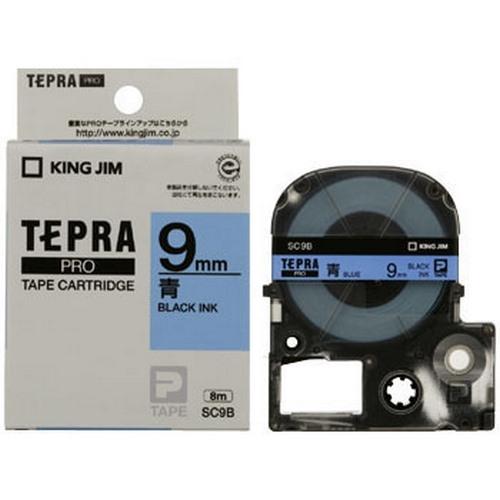 TEPRA SC9B - CHỮ ĐEN NỀN XANH DƯƠNG 9MM